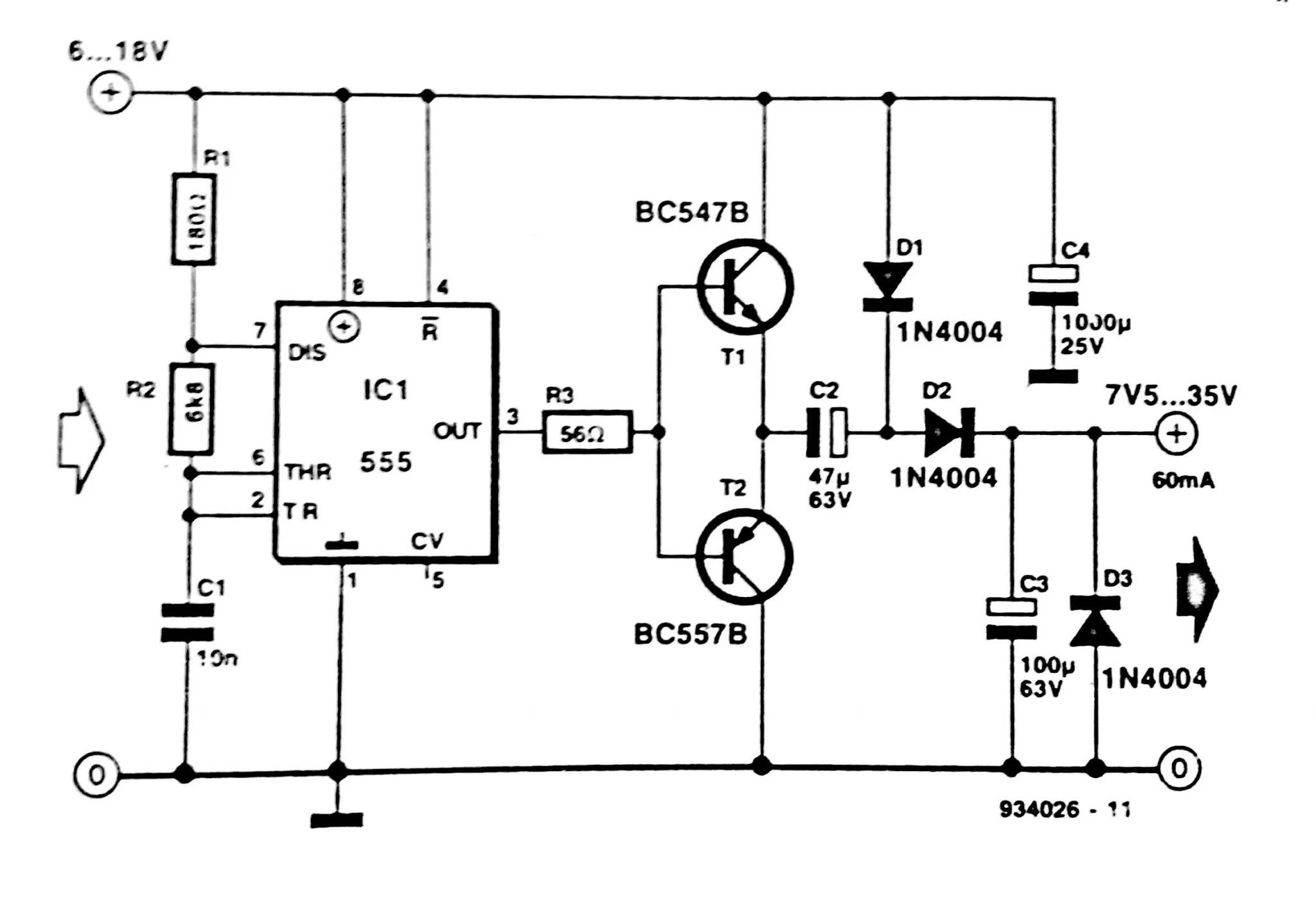 F To V Converter Circuit Diagram