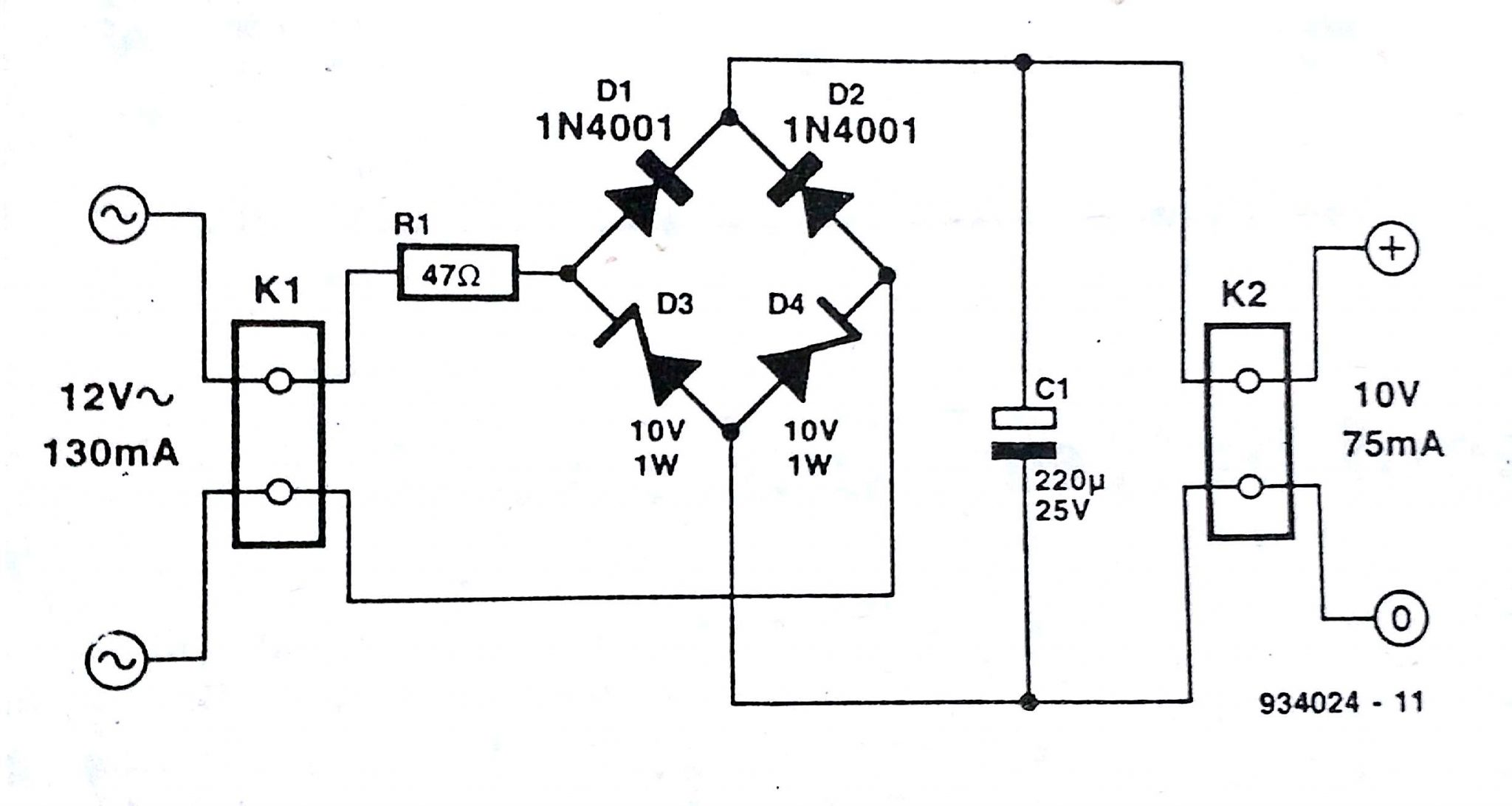 12v Power Supply Wiring Diagram