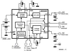 ±5V Voltage Converter Schematic Circuit Diagram