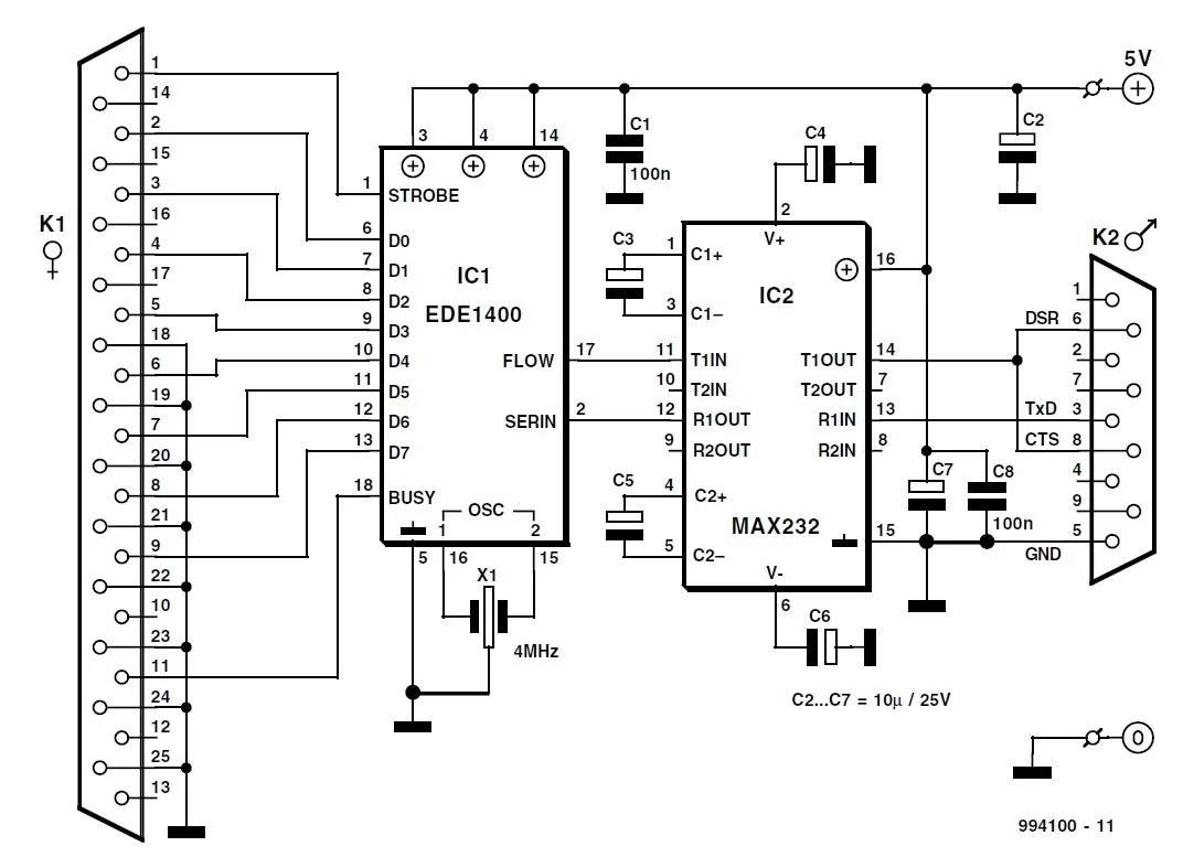 Serial To Parallel Converter Schematic Circuit Diagram