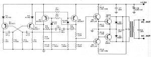 diagram ingram: 12V to 220V 100W Transistor Inverter