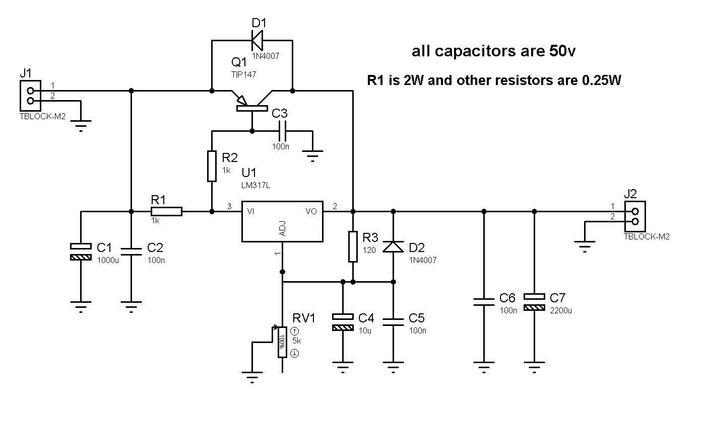 5 Volt High Current Regulator Schematic
