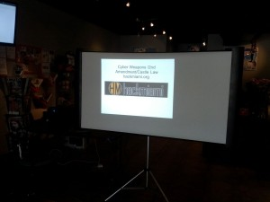 A HackMiami meeting on the topic of cyber weapons (Source: HackMiami)