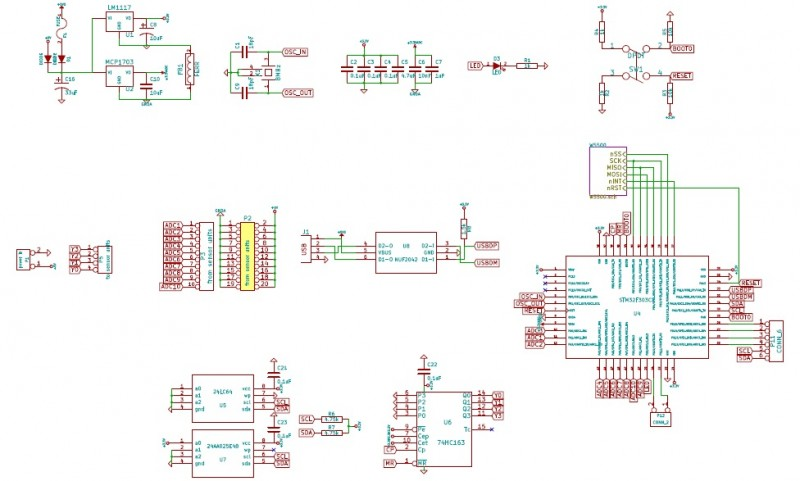 Schematic of the DSP unit (STM32F303Cx part)