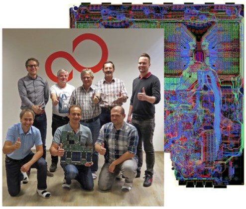 The best overall winner of the 2017 Mentor PCB Technology Leadership Awards is the team from Fujitsu Augsburg for their design of a high-performance computing mainboard. (PRNewsfoto/Mentor, a Siemens business)