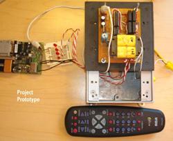 TV/VCR Remote Control Exterior Light Controller