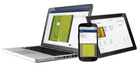 Figure 2 Farmer Core is a software-as-a-service (SaaS) that integrates machine-generated data from precision agriculture displays to simplify farm setup and streamline farm operations.