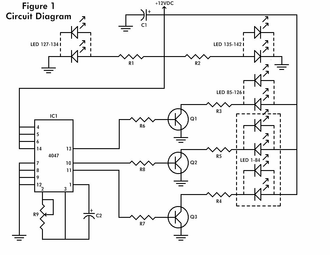 Led Flashing Heart Schematic Design