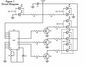 LED flashing heart circuit diagram
