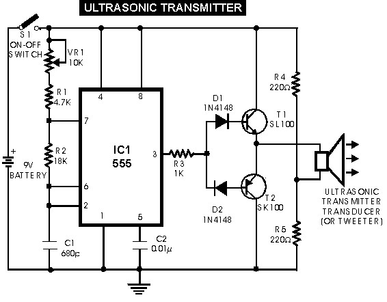 Ultrasonic Sensor Switch  Schematic Design