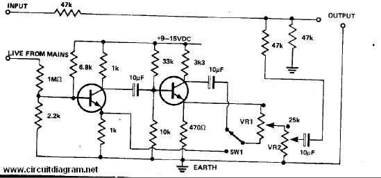 Hum Remover Circuit Electronic