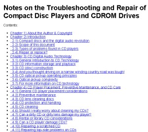 Troubleshooting and Repair of CD DVD Bluray Disk