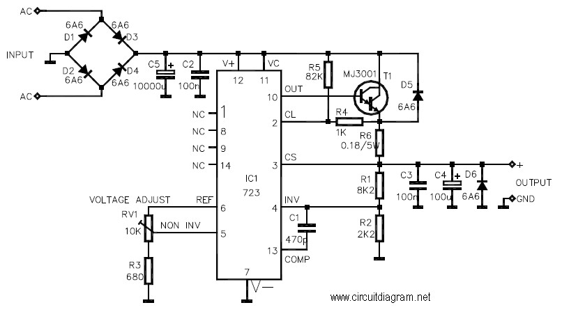 3-30V 3A power supply Circuit Electronic