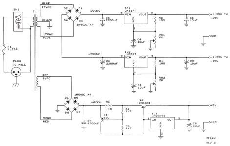 Bench Power Supply XP-620 Circuit Electronic