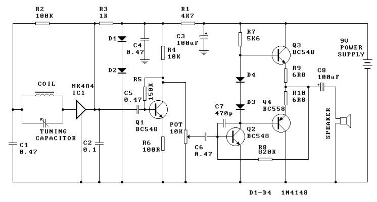 AM Radio Receiver Circuit Electronic