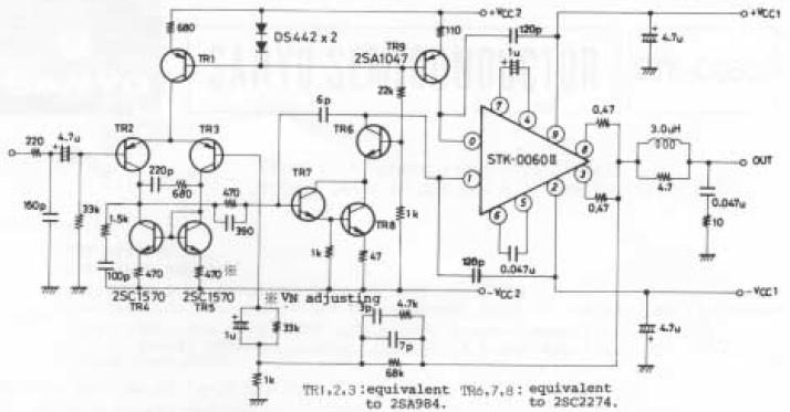STK-0060II 60W Power Amplifier Circuit
