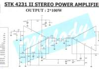 100W Stereo Power Amplifier STK4231II Scheme