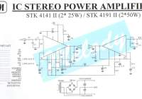 2 x 25W Stereo Power Amplifier Circuit STK4141II
