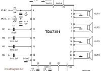 TDA7381 4 x 25W Quad Audio Amplifier Circuit