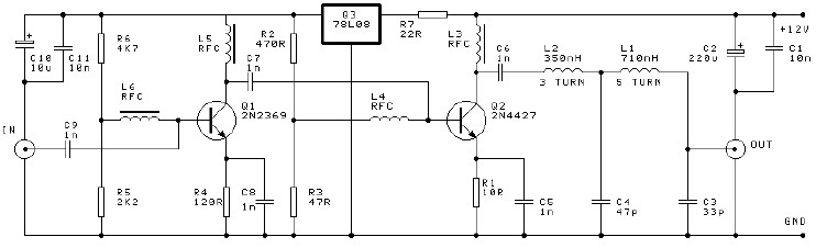 250mW RF Power Amplifier Circuit Electronic