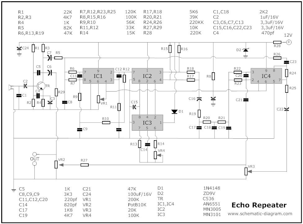 mic mixer with echo schematic diagram circuit diagram images Phan Mem Echo Mic Echo Mic Circuit Kit