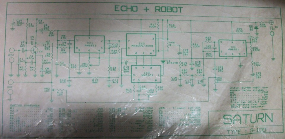 Echo Chamber and Robot Voice Effect Circuit Electronic