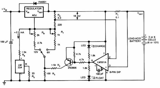 Lead-Acid Battery Charger Circuit Electronic