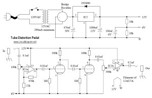 Tube Distortion guitar Archives  Electronic Circuit Diagram