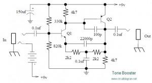 Tone booster circuit diagram