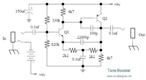 Tone booster circuit diagram