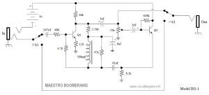 Maestro Boomerang Wah-Wah Pedal Circuit Diagram