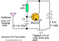 Simple RF transmitter scheme diagram