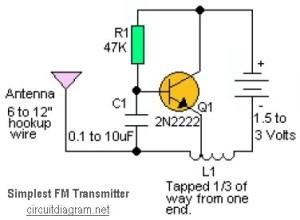 Simple RF transmitter scheme diagram