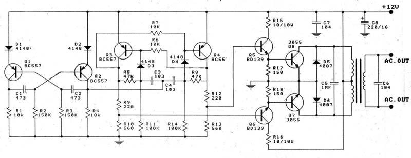 inverter circuit diagram 100w