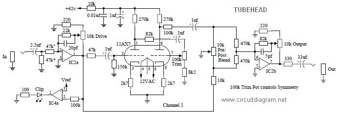 tubehead circuit diagram