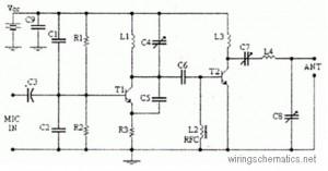 4 Watts FM transmitter circuit