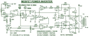 1000W Power Inverter Circuit