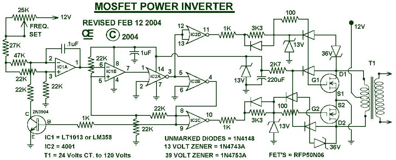 Scematic Diagram Panel: Simple Inverter Circuit Diagram 1000w