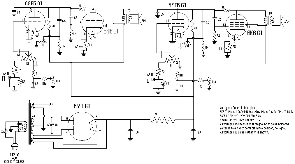 Stereo Tube Amplifier 4 Watts Schematic Design