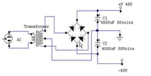 Split Power Supply Circuit for Power Amplifier