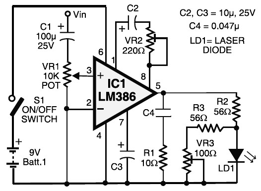 Laser Communication Transmitter Receiver Schematic