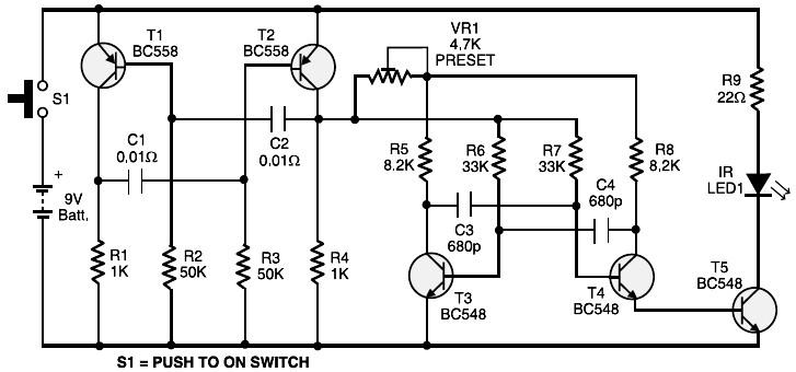 Toy Car Remote Control  Schematic Design
