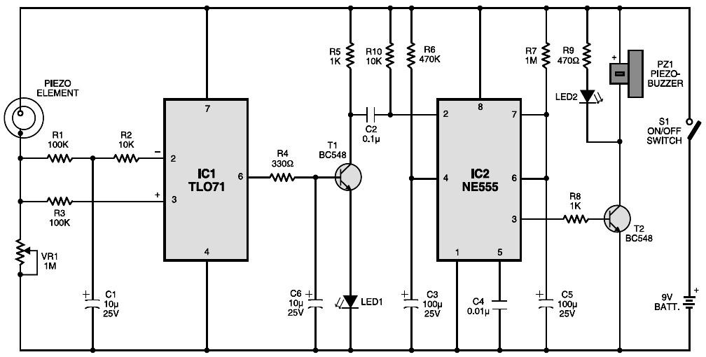 Seismic  Vibration Sensor  Schematic Design