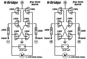 6 Transistor Tilden's HBridge | Electronic Circuit