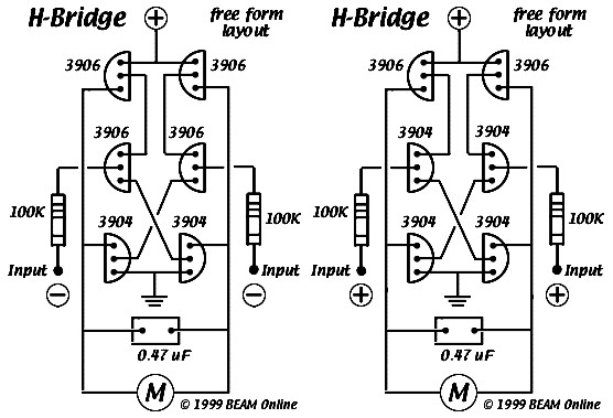 6 Transistor Tilden S H Bridge Schematic Design