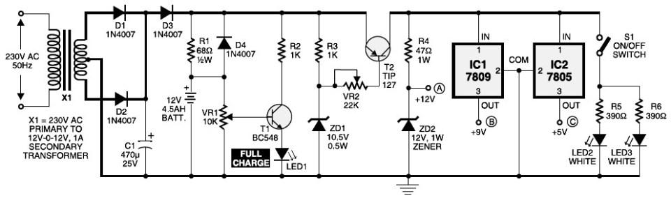 Mini UPS circuit