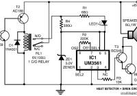 Heat Detector and Siren Circuit Electronic