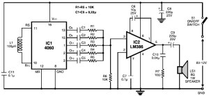 Multitone Siren Alarm circuit diagram