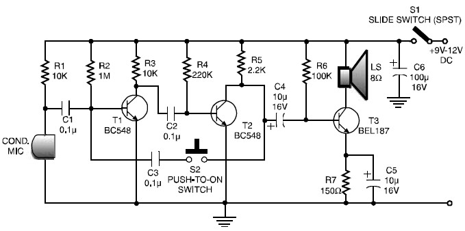 two transistor simple walkie talkie circuit diagram circuit rh circuitdiagramimages blogspot com simple walkie talkie circuit diagram walkie talkie wiring diagram