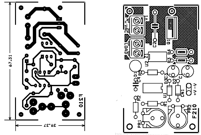 200W Lamp Flasher PCB design